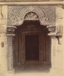 Close view of entrance to the shrine of the Ayeshvara Temple, Sinnar